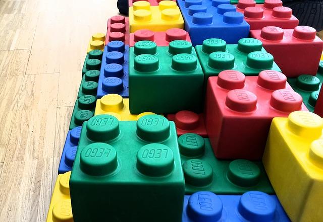 bloques de lego juntos